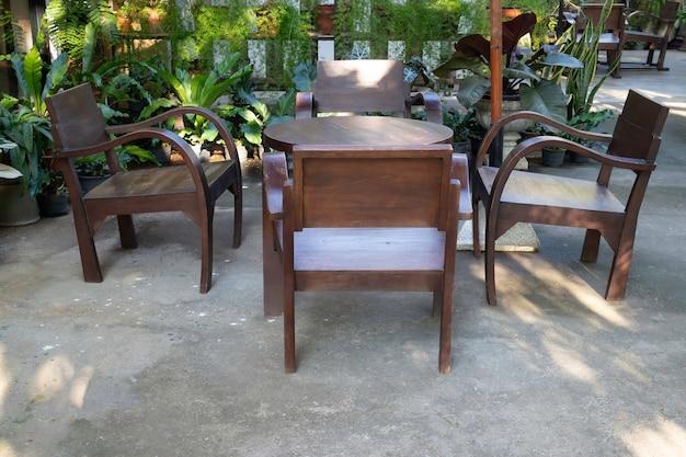 Estilo minimalista lindo jardim verde de verão, stock photo