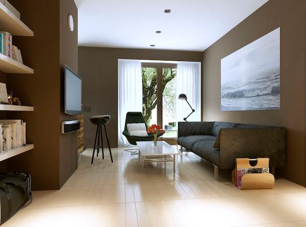 Estilo moderno da sala de estar