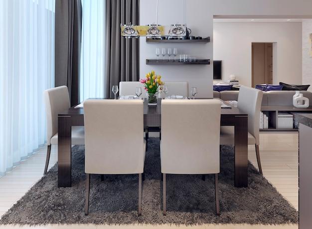 Estilo moderno da sala de jantar