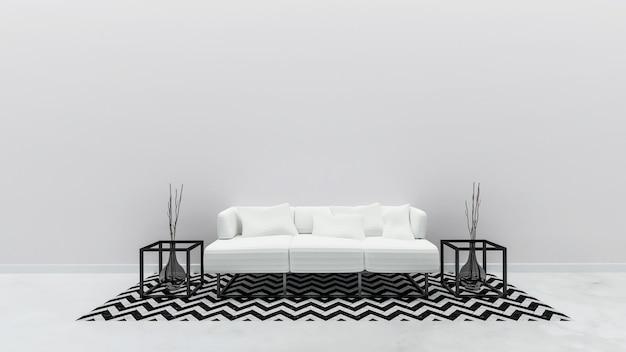 Estilo moderno de sala de estar interior