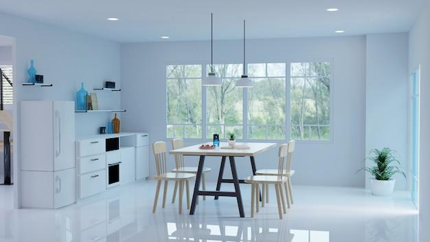 Estilo moderno interior de sala de estar. design de interiores. renderização 3d.