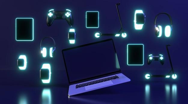 Estilo néon do evento cyber monday