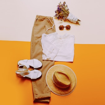 Estilo sertanejo. moda de verão. senhora. roupa romântica