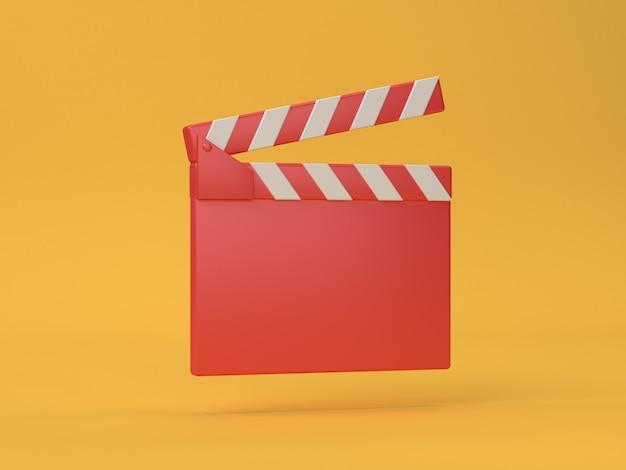 Estilo vermelho dos desenhos animados da ardósia do cinema-cinema 3d renderização 3d cinema, cinema, entretenimento