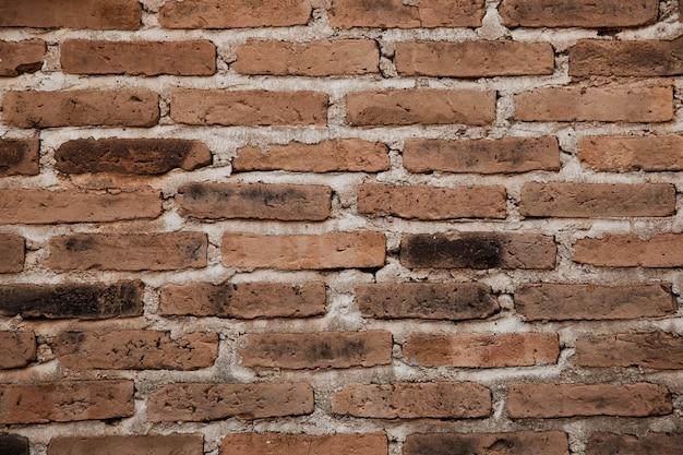 Estilo vintage de textura de fundo de parede de tijolo