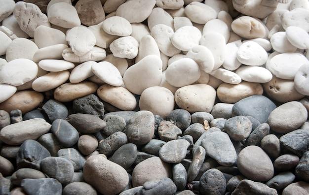 Estilo zen em pedra preto e branco