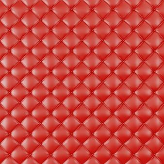 Estofos em couro sofá fundo. sofá de decoração de luxo vermelho. textura de couro vermelha elegante com botões para padrão e plano de fundo. textura de couro para recursos gráficos, renderização em 3d