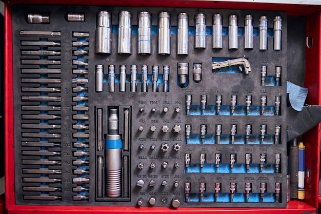 Estojo portátil com ferramentas profissionais de conserto de automóveis