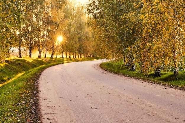 Estrada ao por do sol