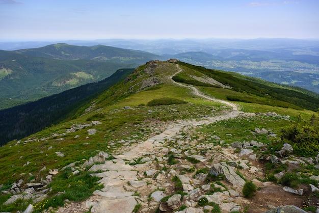 Estrada, através, tatra, montanhas