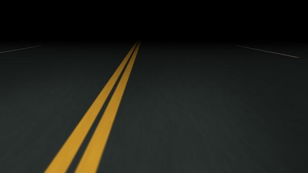 Estrada de asfalto sem fim à noite