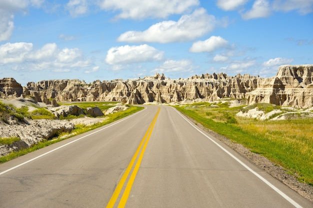Estrada de badlands