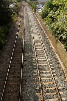 Estrada de trem ferroviário.