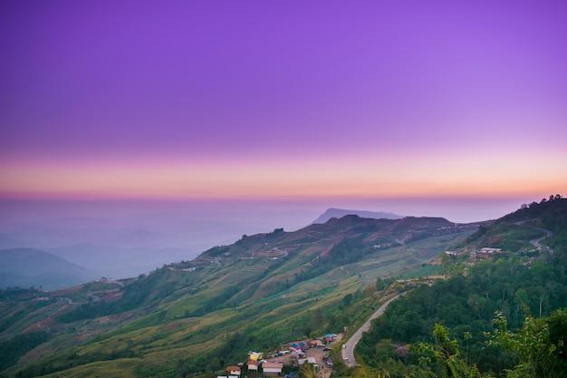 Estrada, de, tubberg, montanha, tailandia