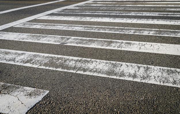 Estrada do cruzamento de zebra