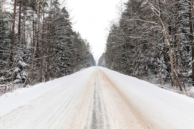 Estrada na temporada de inverno