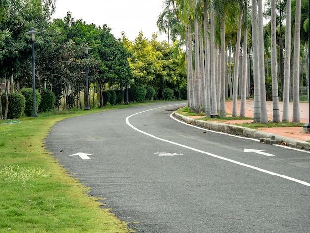 Estrada para correr no parque