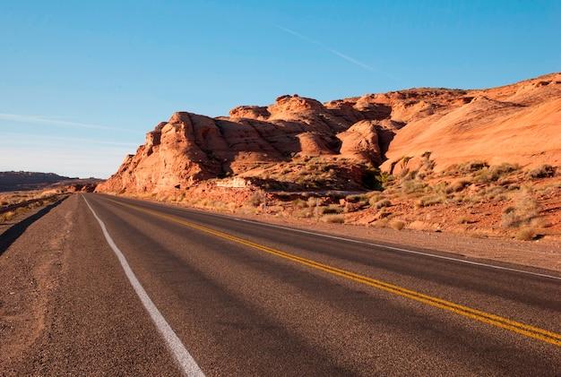 Estrada, passagem, um, paisagem, eua rota, 89, utah, eua