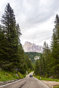 Estrada, perto, cristallo, montanha