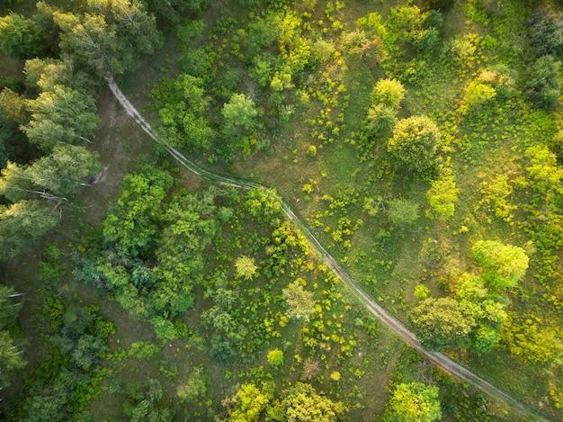 Estrada rural - vista aérea