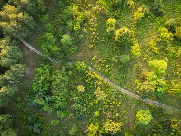 Estrada rural - vista superior