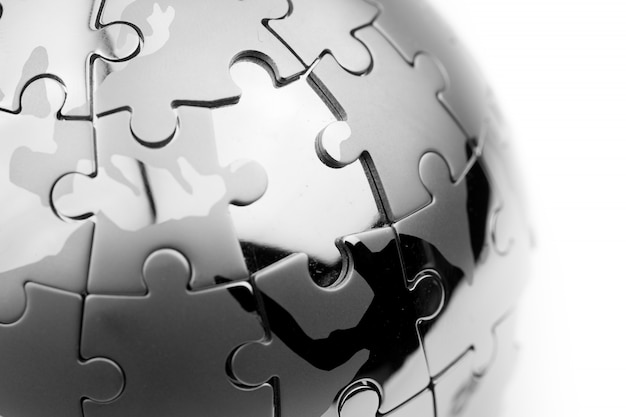 Estratégia global e conceito de negócios de solução, quebra-cabeças