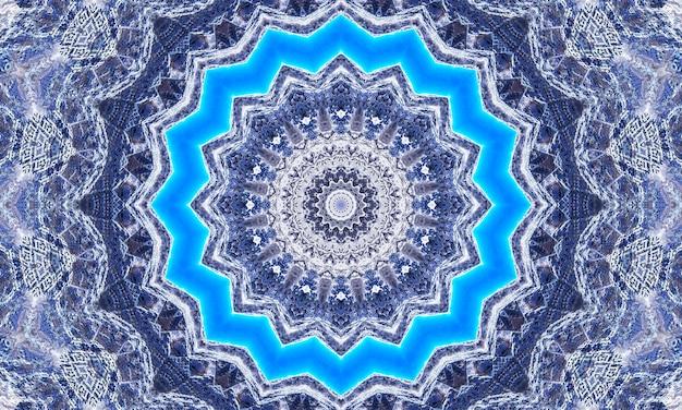 Estrela brilhando intensamente com um fundo radial em azul.