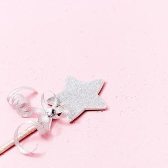 Estrela brilhante, brilhante, cartão mínimo para o ano novo ou férias de natal