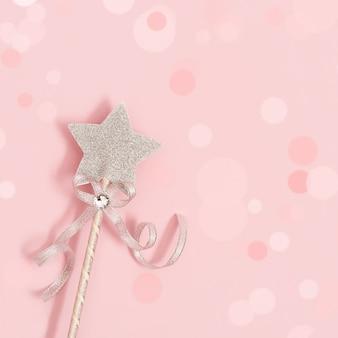 Estrela brilhante, cintilante, conceito de atmosfera romântica.