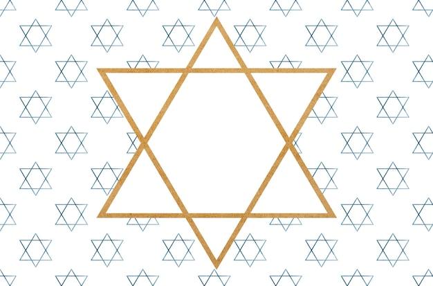 Estrela de david pintada. preparando-se para o feriado. close, sem pessoas, textura. parabéns para entes queridos, parentes, amigos e colegas