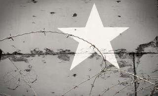 Estrela de fundo urbano