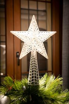 Estrela de natal brilhante close-up