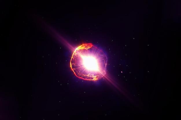 Estrela de nêutrons no espaço. os elementos desta imagem foram fornecidos pela nasa. foto de alta qualidade