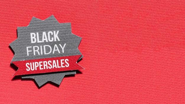 Estrela de papel com oferta da black friday
