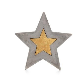 Estrela do natal isolada em um fundo branco.