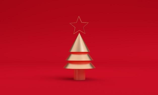 Estrela minimalista na árvore de natal