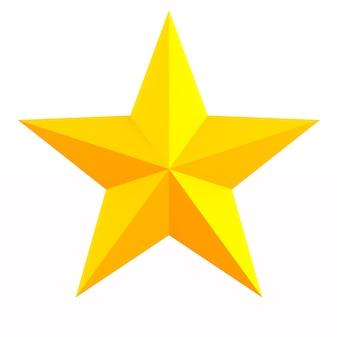 Estrela no espaço em branco. ilustração 3d isolada