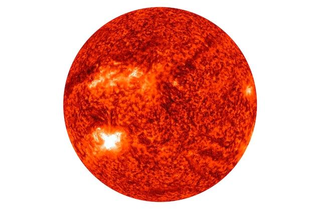 Estrela sol isolado em fundo branco os elementos desta imagem foram fornecidos pela nasa