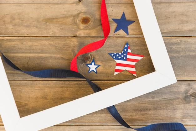 Estrelas americanas no quadro