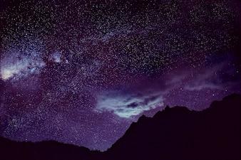 Estrelas Dark Sky Beautiful Impressionante