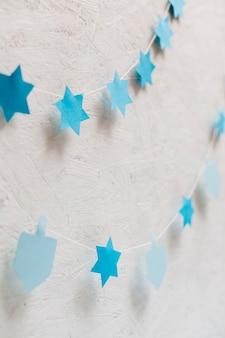 Estrelas de close-up e coleção de pião