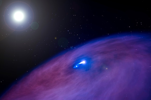 Estrelas de nêutrons na nebulosa. os elementos desta imagem foram fornecidos pela nasa. para qualquer propósito.