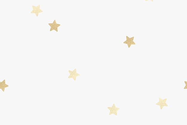 Estrelas douradas cintilantes em um fundo branco