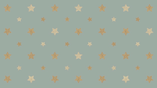 Estrelas douradas cintilantes perfeitas