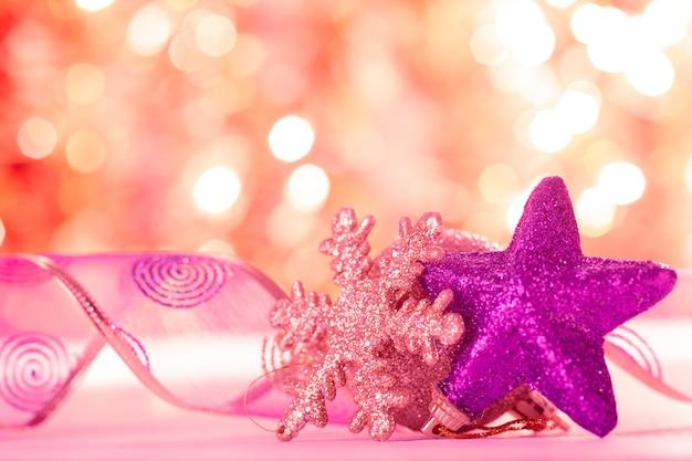 Estrelas e bokeh - fundo de natal para design