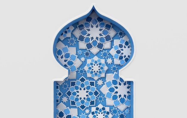Estrelas intrincadas da janela islâmica árabe