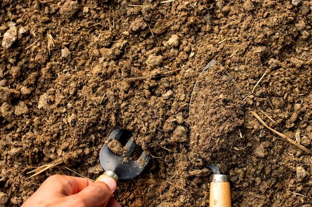 Estrume ou estrume animal para uso na agricultura ou agricultura.