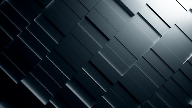 Estrutura abstrata preta de retângulos