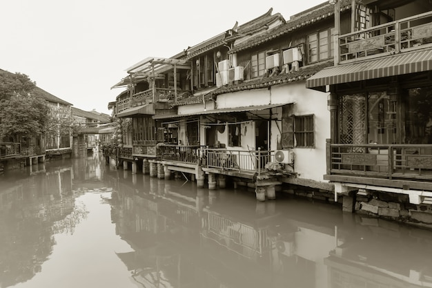Estrutura antiga china nostalgia cinza