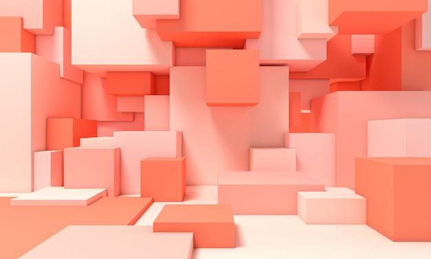 Estrutura composta por cubos de diferentes tamanhos